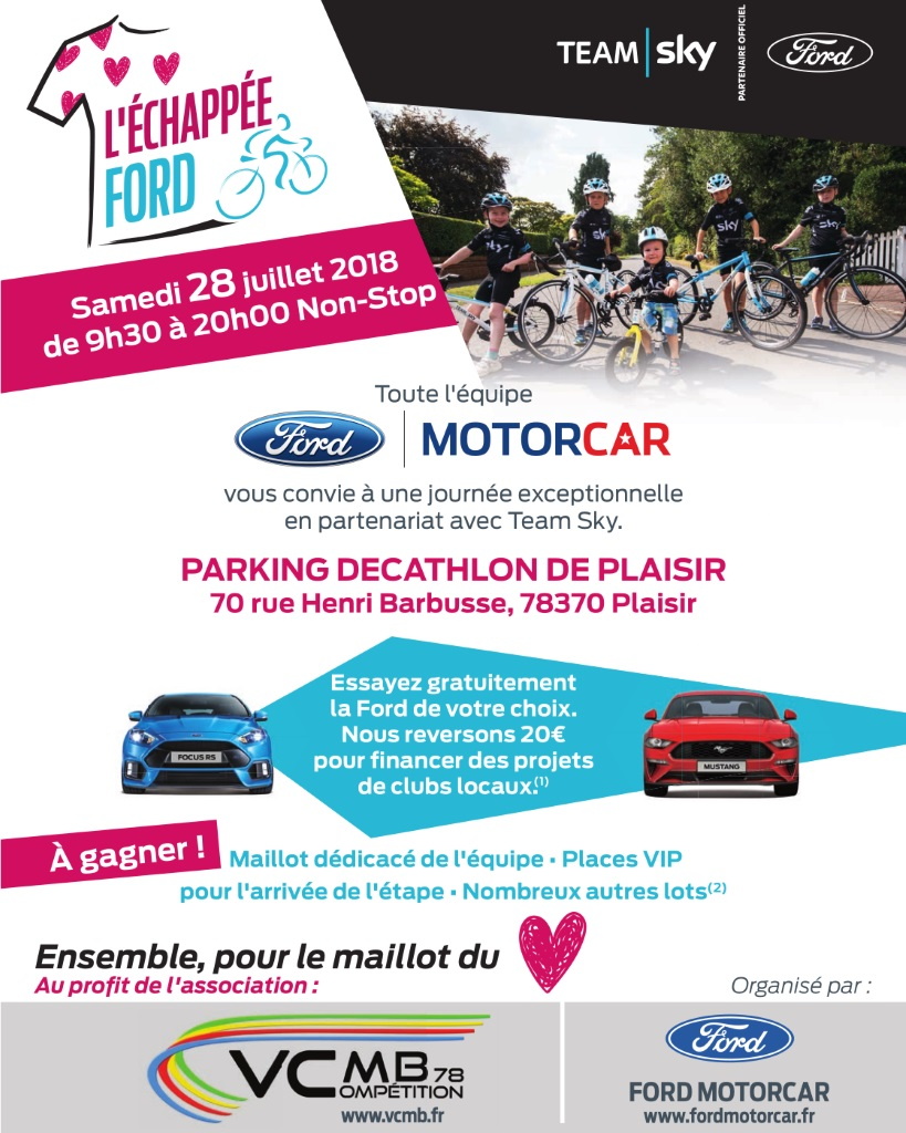 Tour de France Animation FORD Plaisir 28-07-2018